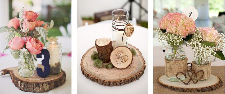 Los mejores centros de mesa rústicos para bodas