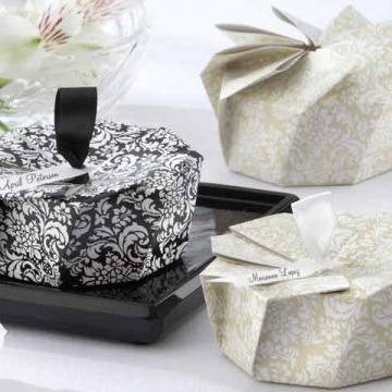 Wedding favors- Damask origami box