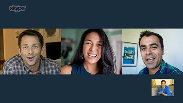 Skype adds free group video chat, challenges Google