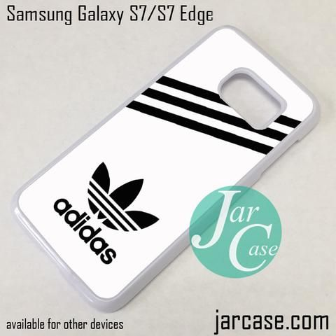 White Adidas Custom Phone Case for Samsung Galaxy S7 & S7 Edge