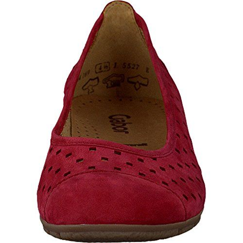 Gabor Fashion Damenschuhe 44.169.15 Damen Ballerinas Slipper Slip-On Leder (Nubukleder) Rot (rot), EU 44 - http://on-line-kaufen.de/gabor/9-5-uk-gabor-44-169-damen-ballerinas