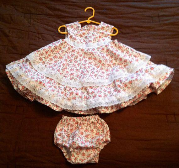 Triple lace and ruffle little miss dress size by AStitchAtATime1