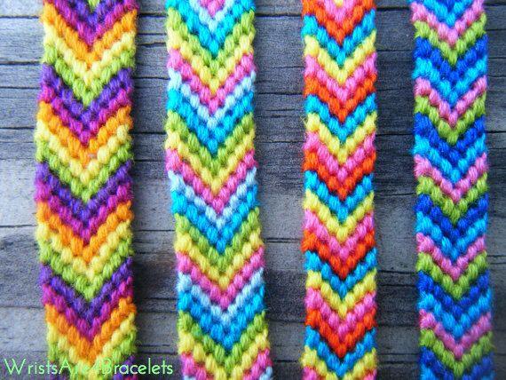 Colorful Chevron Friendship Bracelet - Bestseller - String Friendship Bracelet - Chevron - Best Friend Gift by WristsAre4Bracelets on Etsy https://www.etsy.com/listing/125835635/colorful-chevron-friendship-bracelet