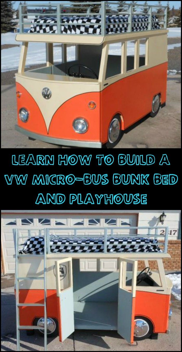 Give Your Kids an Awesome Place to Sleep and Play in With This DIY VW Micro-Bus Bunk Bed and Playhouse