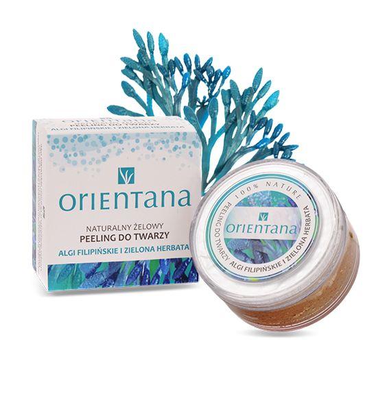 ORIENTANA Peeling do twarzy Algi filipińskie i zielona herbata - Nieprzyzwoicie naturalny sklep dla kobiet lubiących siebie
