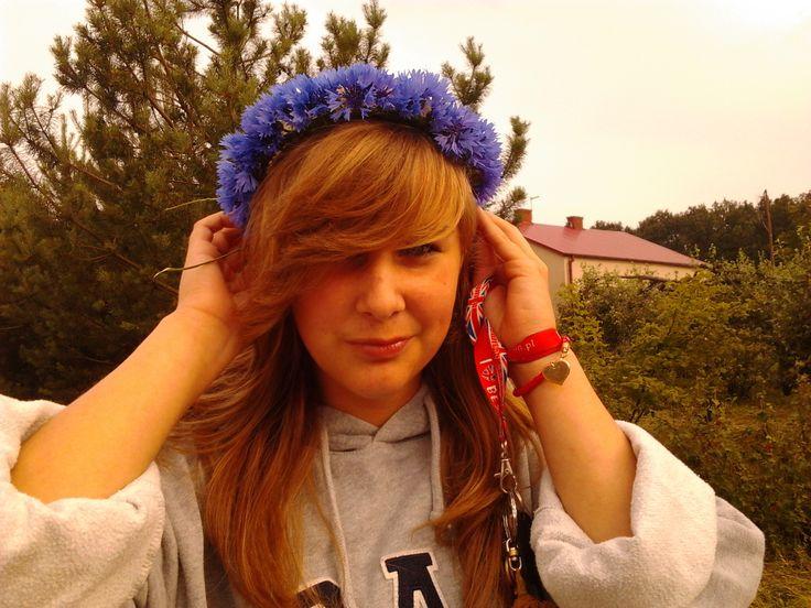 I like blue flowers