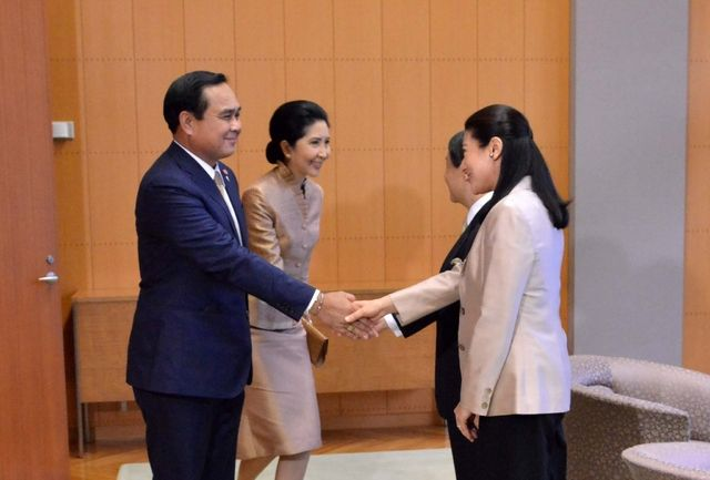 On 9th February, HIH Crown Prince Naruhito and HIH Crown Princess Masako met with HE Mr Prayut Chan-o-cha, Prime Minister of the Kingdom of Thailand and his wife at Crown Prince Residence.