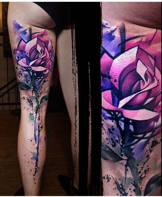 The 25 best geometric rose tattoo ideas on pinterest for Abstract rose tattoo