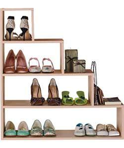 Understairs Shoe Storage Unit - Beech Effect.