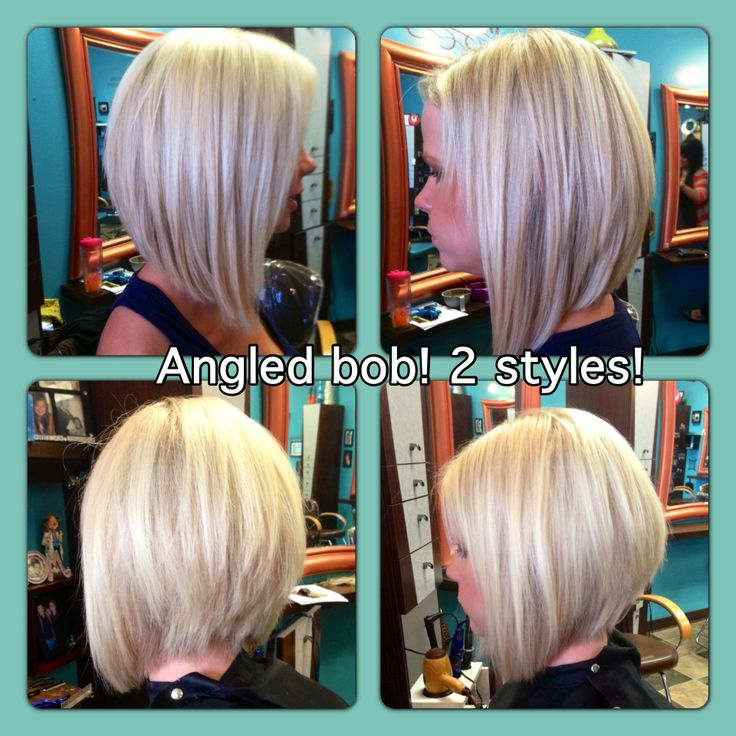Angled bob. Love the longer bob. Oh, if only I could let mine grow.