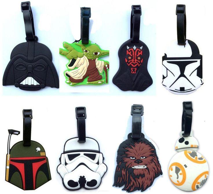 Star Wars bagasi tap BB8 mainan ditetapkan, 2016 baru kekuatan membangkitkan kejeniusan BB-8 boba fett, Chewbacca Darth Vador clone Trooper Yoda tas dekorasi