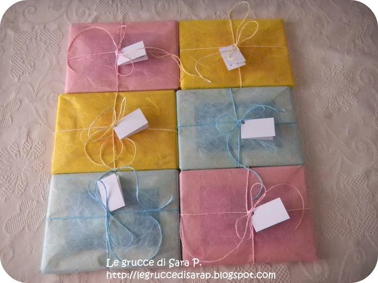 Pacco regalo di carta di riso e cordoncino