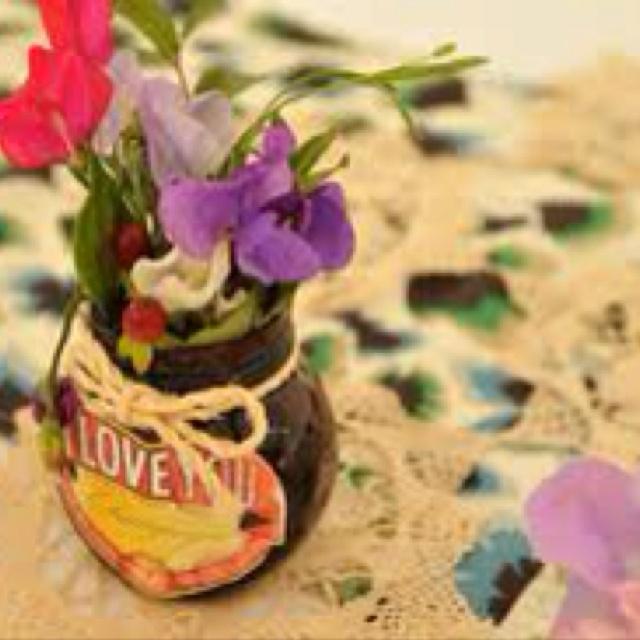 Marmite wedding centrepiece