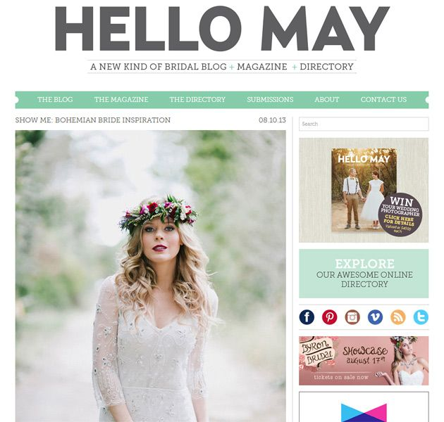 Featured on Hello May » Bohemian Blue Mountains Wedding Inspiration photographed Willow & Co.