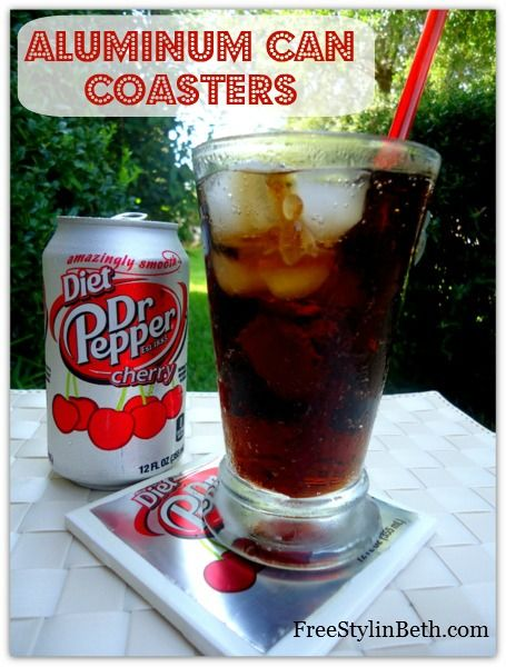 #DIY Aluminum Can Coasters -- perfect for outdoor summer parties