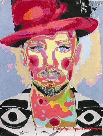 #boygeorge #cultureclub Boy George in #trendsetter #leighbowery Jacket #pastel #art #portrait 2015 #limitededition #artwork #prints only @ www.jamesdeweaver.com.au/ $40 #iloveart #artwit