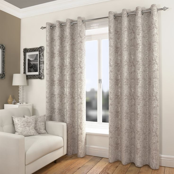 Mayfair Natural Ready Made Eyelet Curtains | Harry Corry Limited