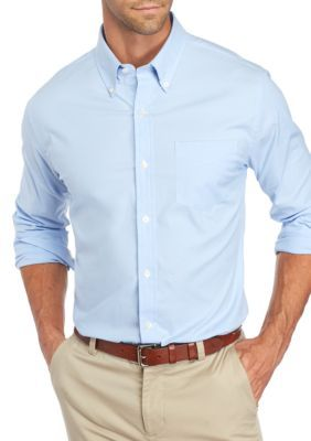Saddlebred Men's Long Sleeve Tailored Oxford Shirt - Blue - 2Xl