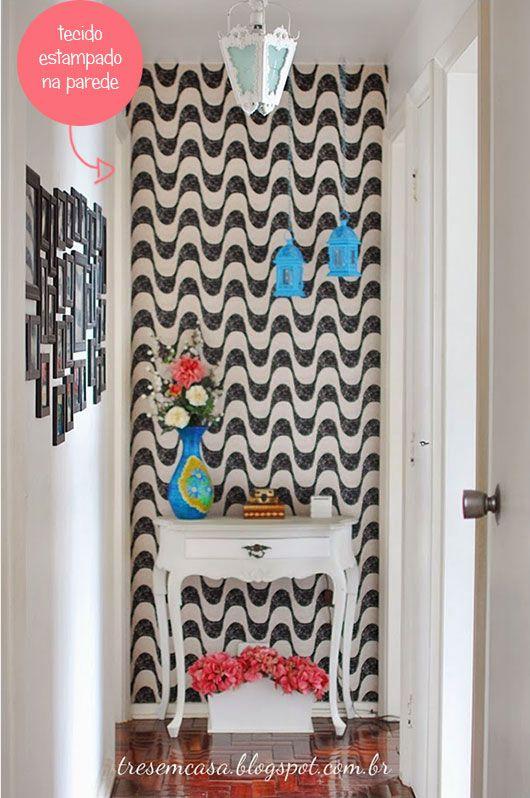 corredor-decorado-com tecido