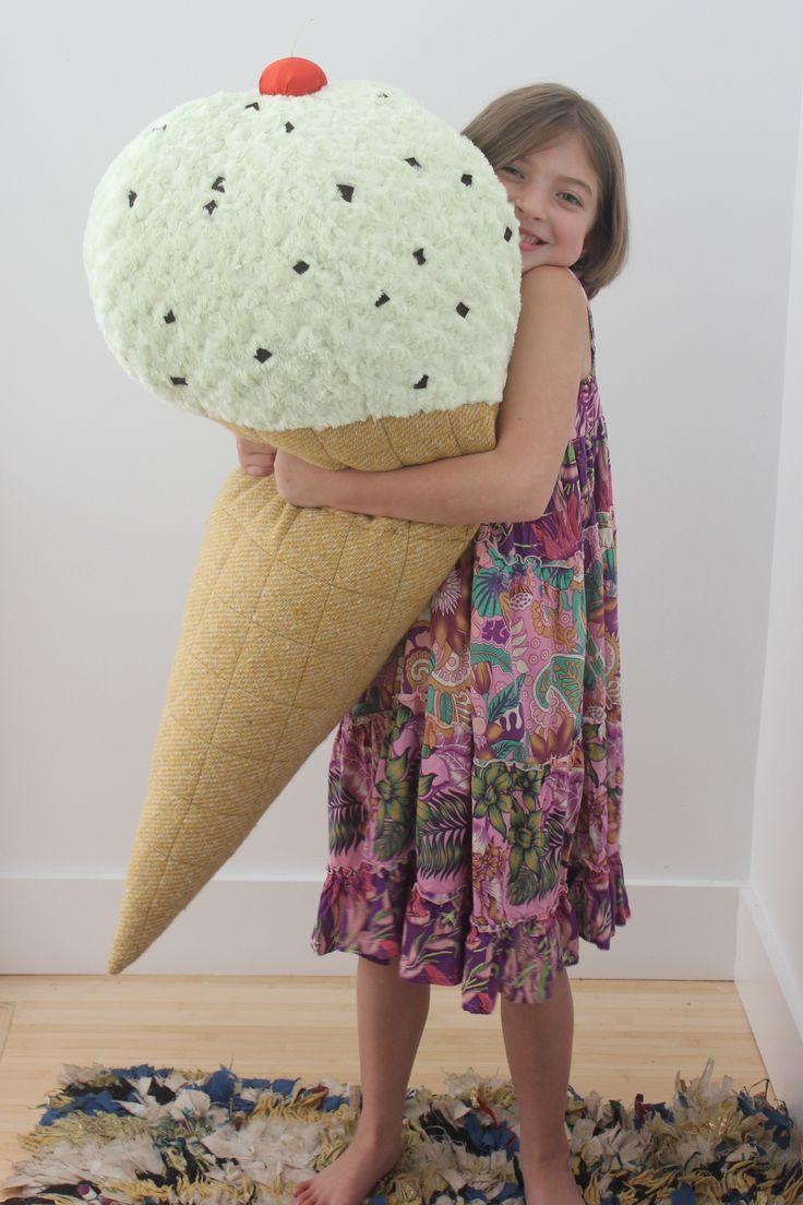 Sew a giant ice cream softie