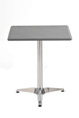 eleganter Metall-Tisch, mit Leder bezogen, 62 x 62 cm, Höhe 70 cm, FARBWAHL, mit verchromtem Fuß, ideal für die Gastronomie Jetzt bestellen unter: https://moebel.ladendirekt.de/kueche-und-esszimmer/tische/esstische/?uid=8a3a99ba-42e5-5eff-bde7-53e812074310&utm_source=pinterest&utm_medium=pin&utm_campaign=boards #kueche #esstische #stehtische #esszimmer #tische
