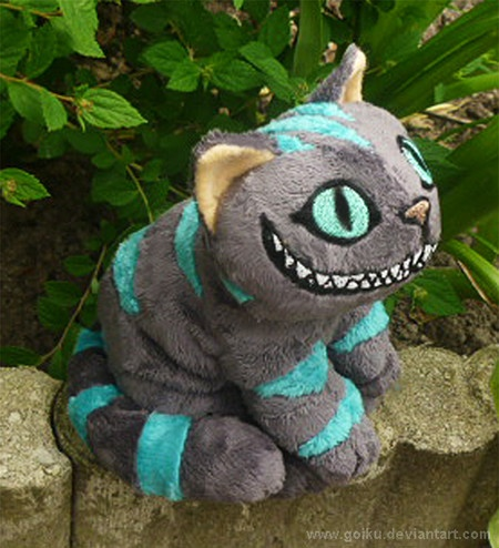 "Cheshire Cat Plush Stuffed Doll 12"" Glow Alice in Wonderland Tim Burton"