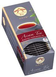 TÈ ASSAM O.S.T.B  Classico tè foglia lunga, prodotto nella omonima regione indiana vicino ai monti dell'Himalaya. Sapore forte dall'aroma leggermente maltato e di colore scuro. Ottimo con un poco di latte. Ideale per la prima colazione e la mattina. Ingredienti: Tè dall'India Contenuto per astuccio: 30 x 2,5 g = 250 g Senza Glutine
