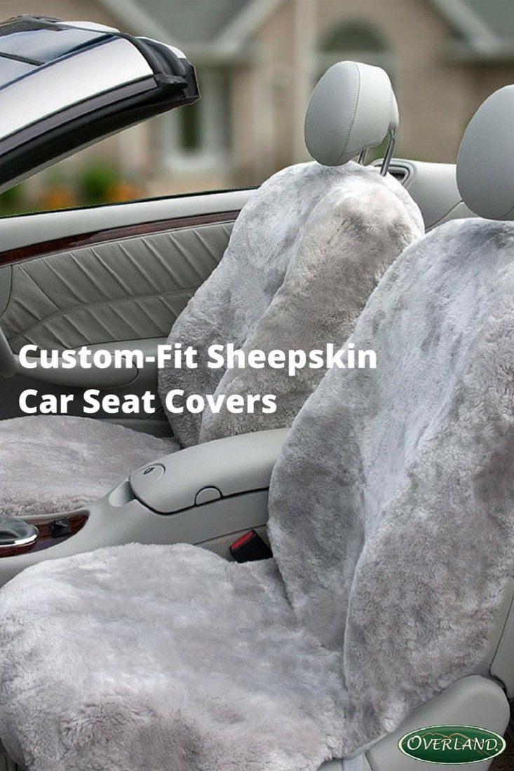 Cool in the summer, warm in the winter. Overland Sheepskin car seat covers are naturally hypoallergenic, wick moisture away from the body, relieve pressure on the back and protect your car's seats. Available in multiple colors and custom-fit to nearly any car make and model.