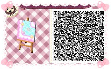 Animal Crossing: New Leaf & HHD QR Code Paths #4 Star crossed Pastel  waterway