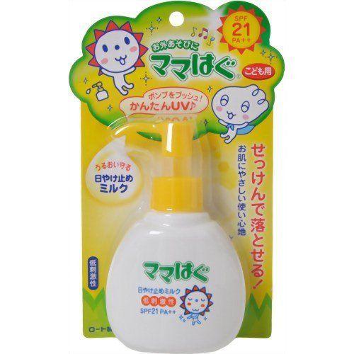 Rohto mama hug | Sunscreen Milk | SPF21 PA+++ 100g for Kids by mama hug. $23.78