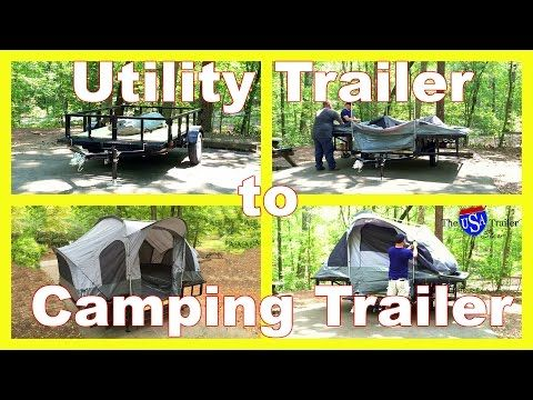 Double Duty Utility & Motorcycle Camper Trailer | The USA Trailer Store