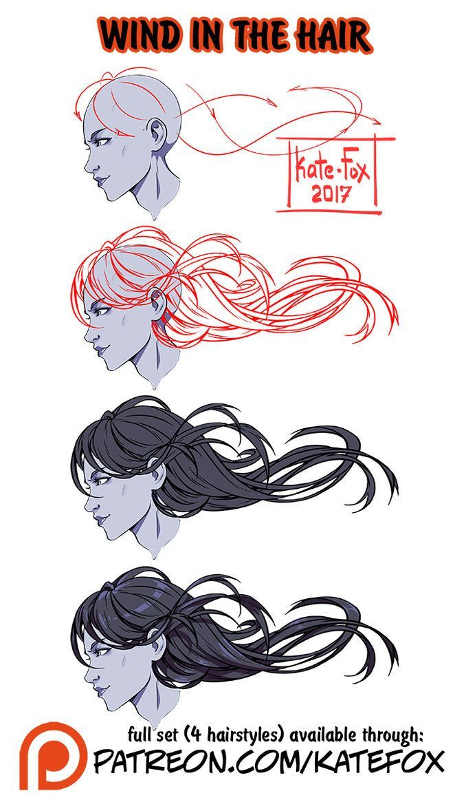 Wind in the hair ref set by Kate-FoX deviantart com on