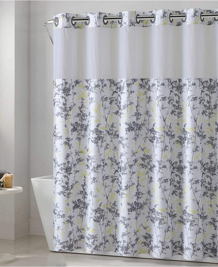 Hookless Floral Leaves 3 In 1 Shower Curtain Reviews Shower