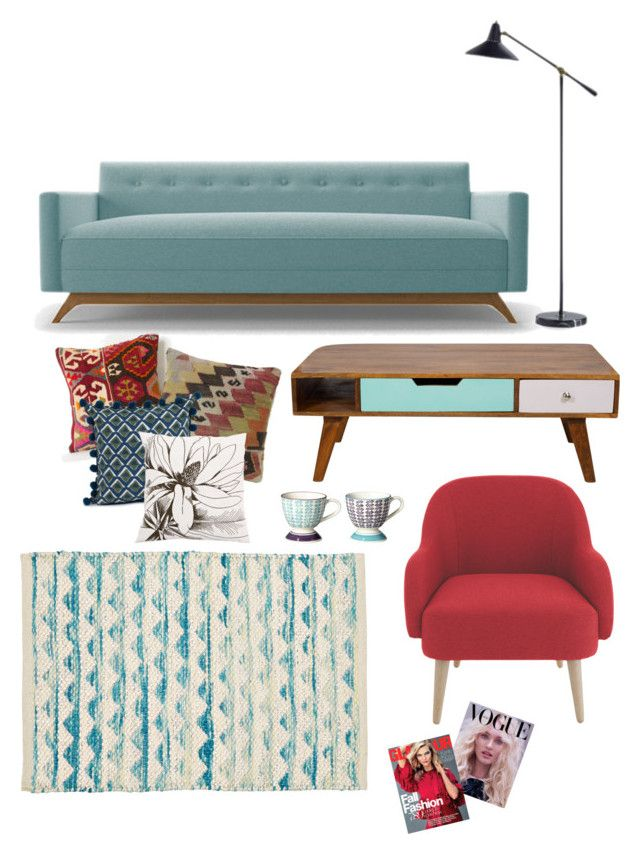 """Lounge"" by dressmeup-lily ❤ liked on Polyvore featuring interior, interiors, interior design, home, home decor, interior decorating, Bohemia, Allem Studio, Joybird and Thrive"