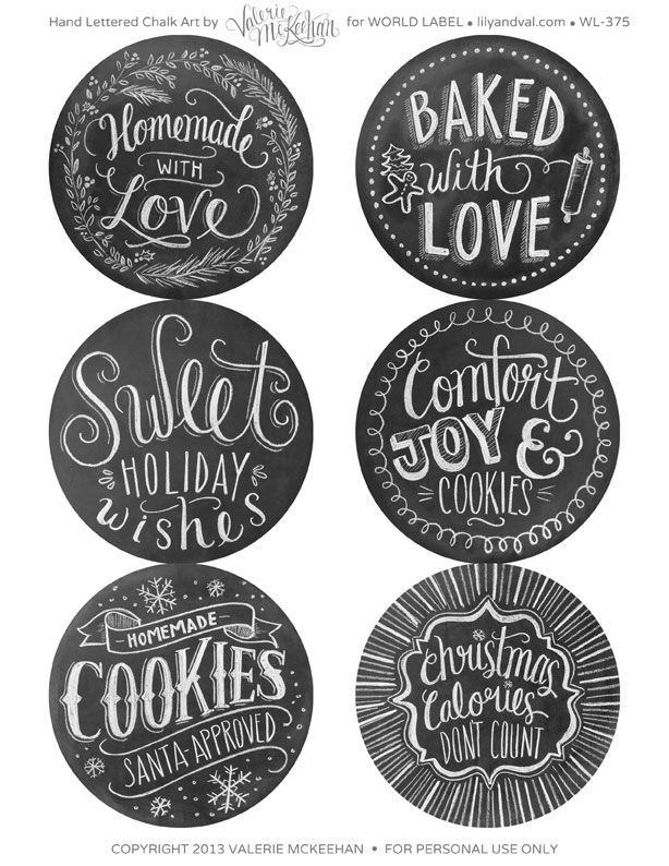 free holiday baked goods printables.. so cute! why didn't i find these before christmas?