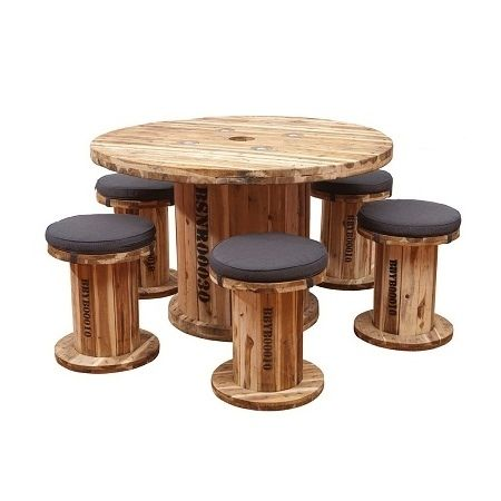Recycle large wooden coils | Inspired : BOB Senior Table Set ===================