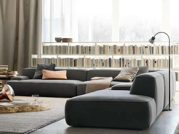 Sofá secional de tecido CLOUD by Lema design Francesco Rota