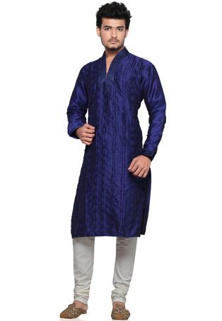 The Kurta with Churidar Pajama is a perfect attire of choice for, suiting various purpose and special occasions like wedding, pooja. #kurtapajama www.manawat.in