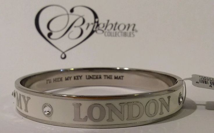 Brighton Haute Pooch White Bangle Bracelet, My Flat In London, JB2992 NWT $38.00 #Brighton #Bangle