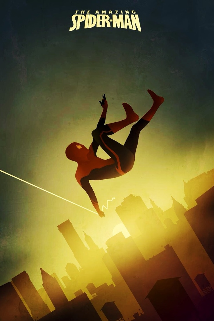 Spiderman minimalist art movie poster minimalism for Minimal art family