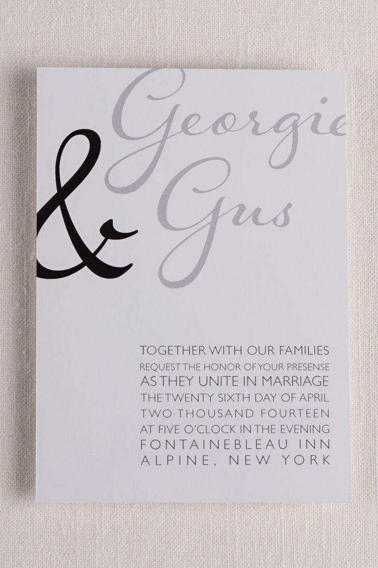 Modern Script Wedding invitations 5x7 black by AnnieTaylorDesign