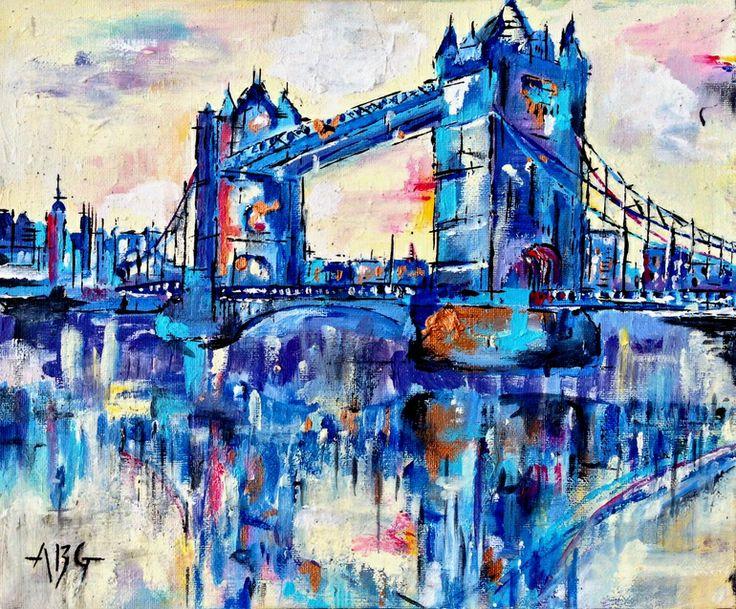 "Saatchi Art Artist: Anna Gammans; Acrylic 2012 Painting ""Tower Bridge, London """