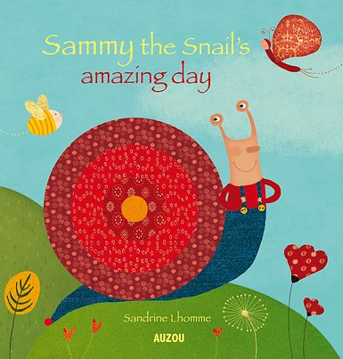 An amusing, animated board book with Sammy, a very special snail living amazing adventures!  For Sammy the snail, each day is a new adventure; after all, the garden is full of unexpected encounters! With all his friends, Sammy will live an amazing day. This beautiful touch-and-feel board book will allow children to play hide-and-seek with the flaps.