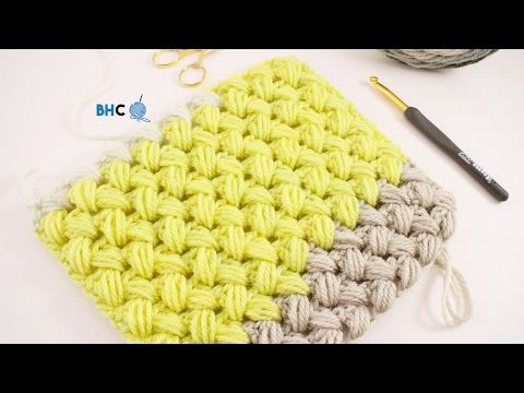 Crochet Zig Zag Puff Stitch - YouTube