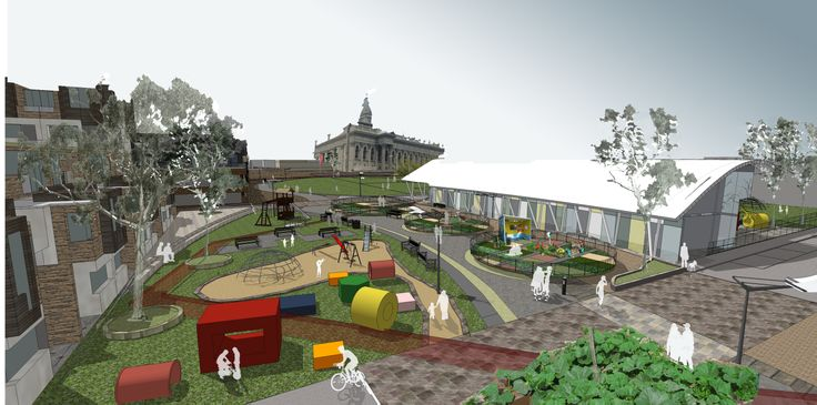 Urban design incorporating community and wellbeing through food production