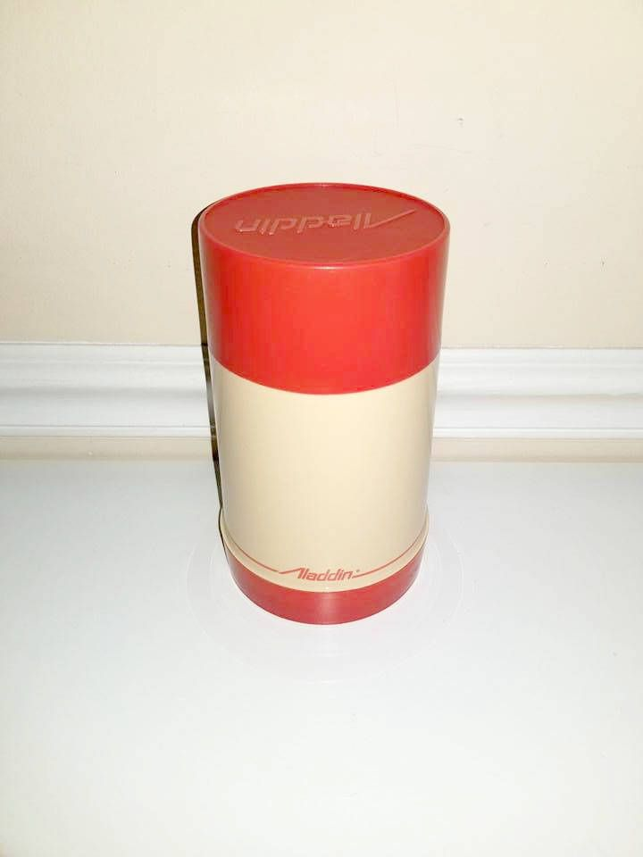 Vintage Red Aladdin Thermos, Soup Thermos, 2 Cup Thermos, Insulated Hot Cold Thermos, Coffee, Hot Cocoa, Drink Carrier, Movie Prop, 1970s http://etsy.me/2ohAFDR #housewares #vintagethermos #coffeecup #coffeecarrier #drinkcarrier #hotcoldbeverage #aladdinthermos