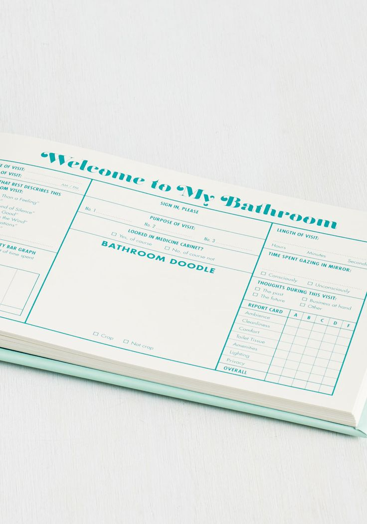 Bathroom Guest Book 624 best gift ideas images on pinterest | gifts, teacher gifts and