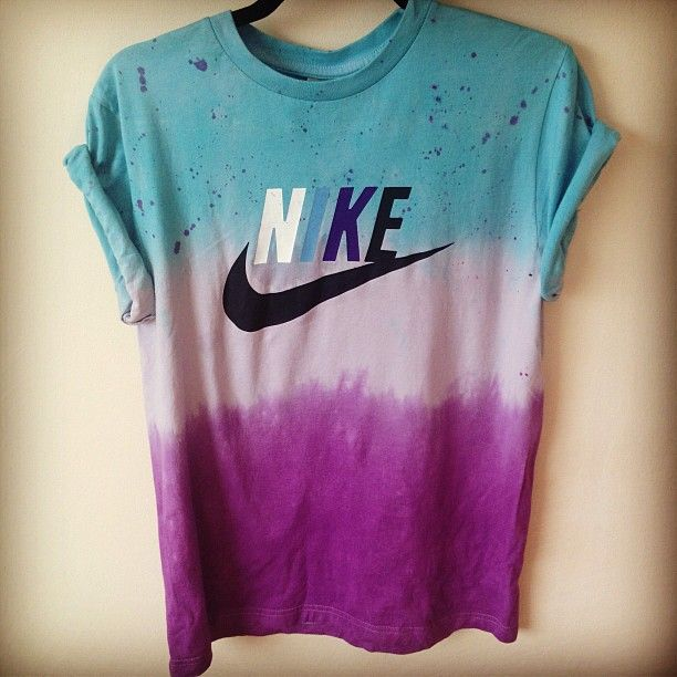 tie-dye nike shirt....such a cool idea to do with old tees! http://taps.io/J82w