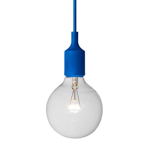 Lámpara E27 Azul