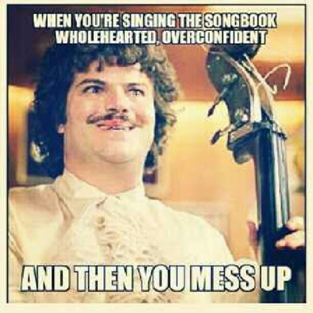 ...yeah..guilty!  Oh and The other day I thought we were done I closed my songbook bowed my head well there was still another verse... Hahaha and we sat In the front everyone was laughing at me. Lol.